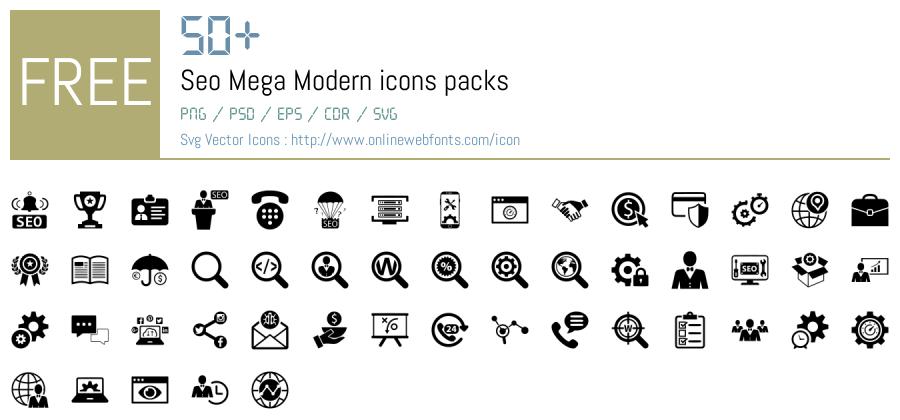 Download +50 Seo Mega Modern Icons Packs Free Downloads ...