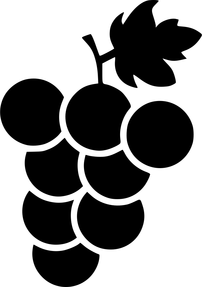 Fruit Healthy Grapes Fruits Fresh Slice Wine Svg Png Icon ... (688 x 980 Pixel)