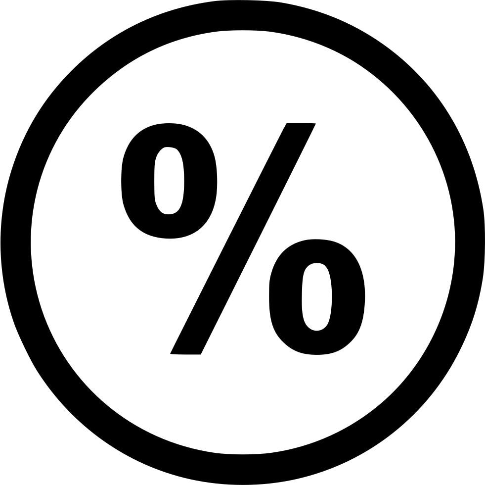 Percentage Interest Rate Svg Png Icon Free Download