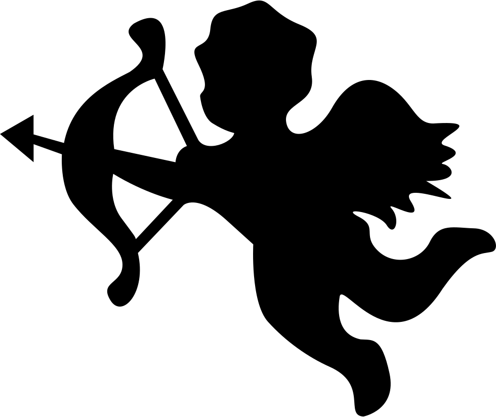 Download Cupid Angel Silhouette Svg Png Icon Free Download (#35395 ...