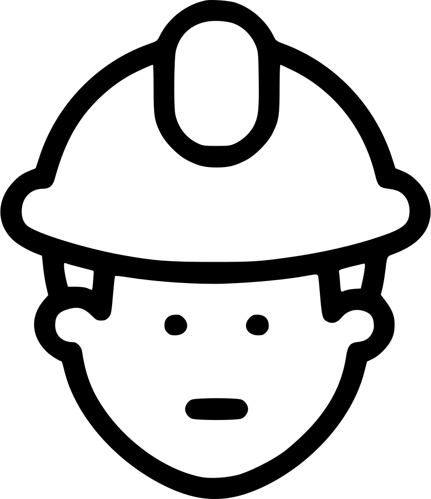 Construction Worker Site Helmet Safety Svg Png Icon Free