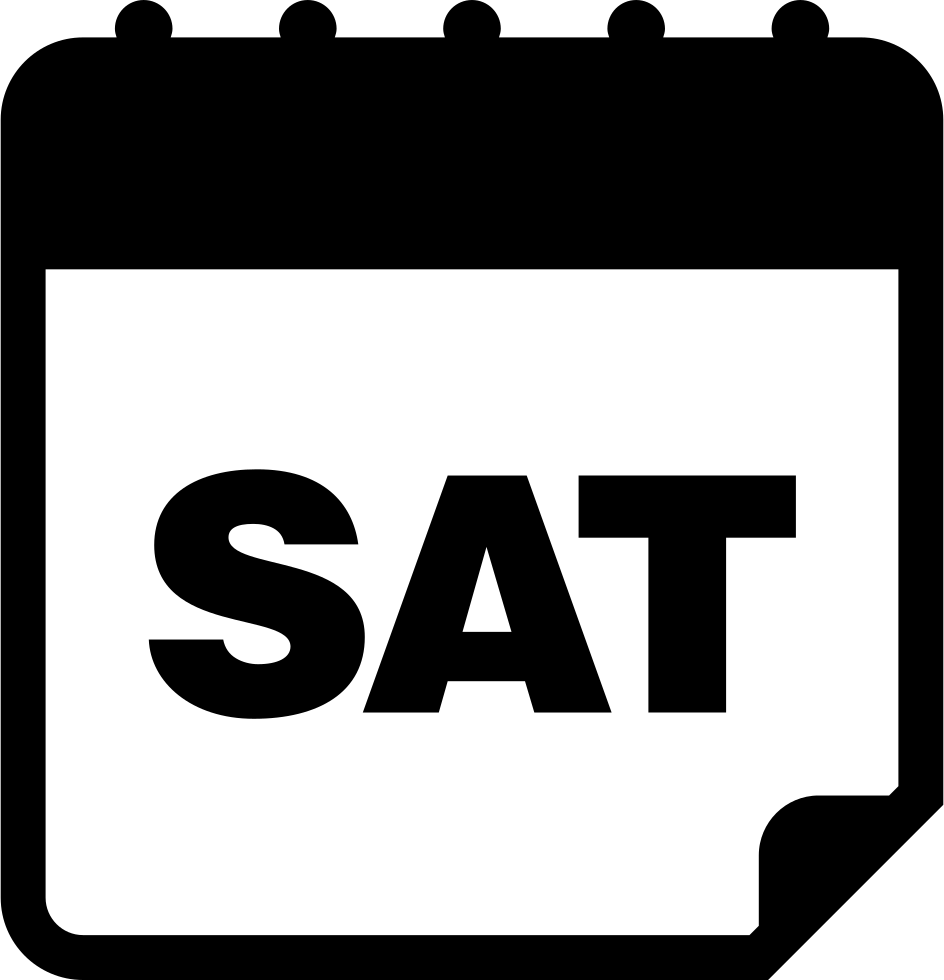 Saturday Calendar Daily Page Interface Symbol Svg Png Icon