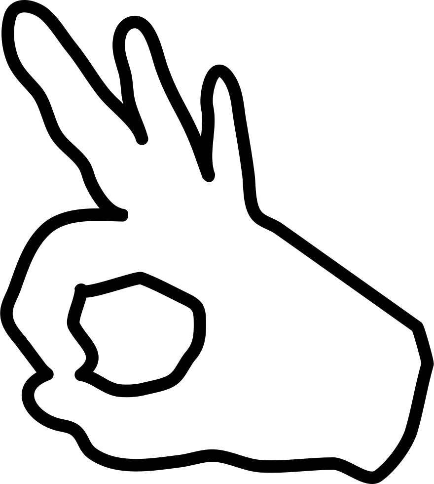 Download Circle Of Fingers Outlined Hand Posture Svg Png Icon Free ...