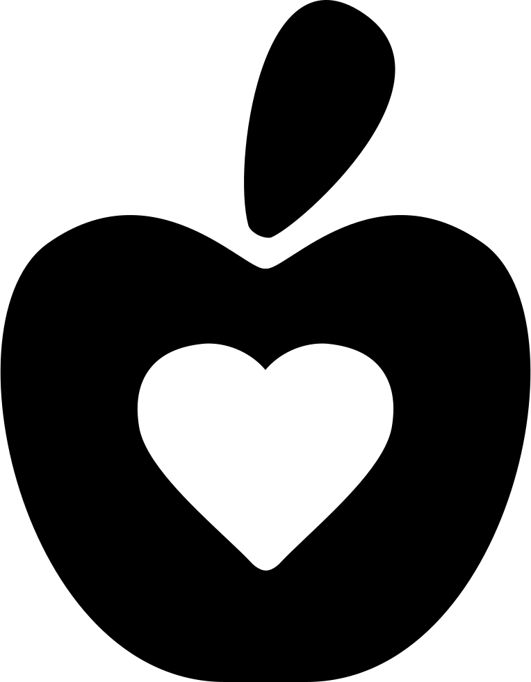 Download Healthy Food Symbol Of An Apple With A Heart Svg Png Icon ...