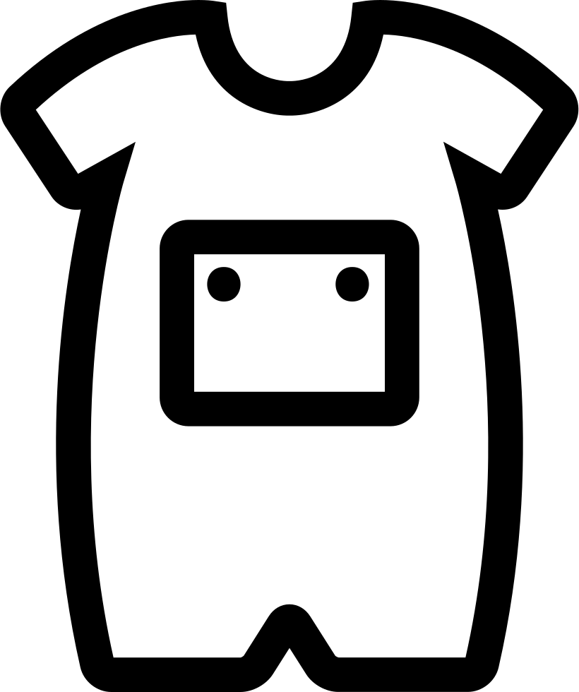 Download Baby Onesie With Front Pocket Outline Svg Png Icon Free ...