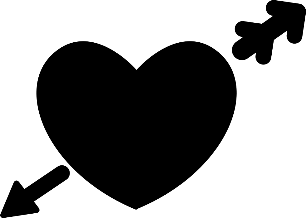 Download Heart In Love With Cupid Arrow Svg Png Icon Free Download ...