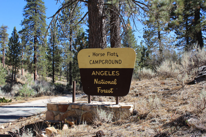 6. Horse Flats National Campground in Angeles National Forest