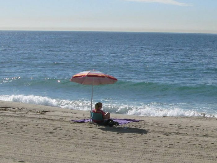 17. An umbrella, a good book and an endless view of the ocean is all you need for a day of bliss in SoCal.