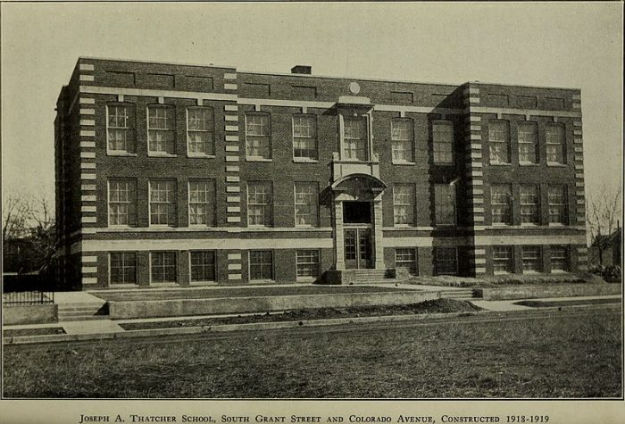 13. Joseph A. Thatcher School, 1918
