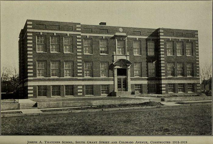 13. Joseph A. Thatcher School, 1918