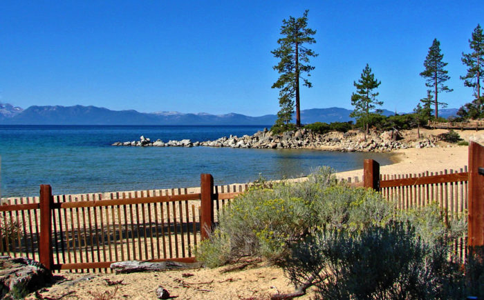 4. Swim in Lake Tahoe and bask on Sand Harbor Beach.