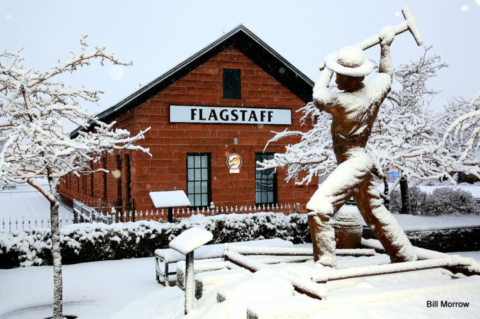 12. I bet Santa's workshop would look pretty similar to this image in downtown Flagstaff. Brr!