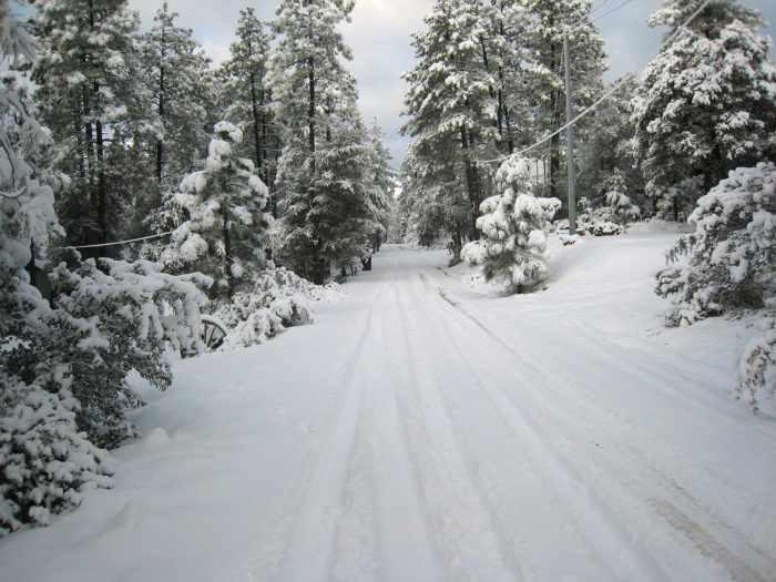 8. The same goes for the streets in Rim Country, which look like a winter wonderland after fresh snow falls.
