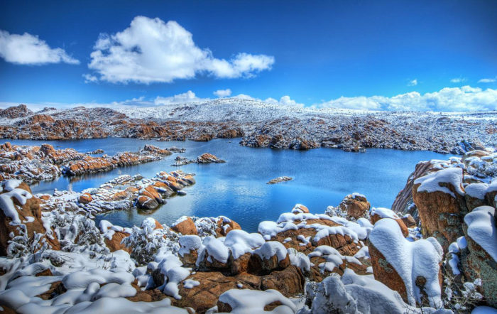 1. The Granite Dells near Prescott looks beautiful when freshly coated with snow.