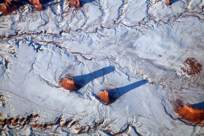 9. Here's a look at Monument Valley in northern Arizona, which I think looks even more impressive when covered in snow!