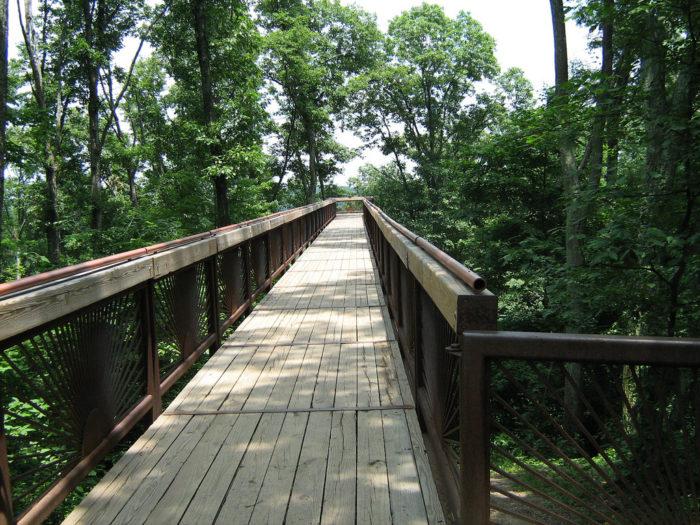 River Bridge Red Natural Gorge