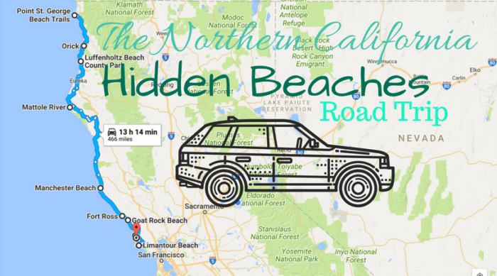California Coast Map Beaches