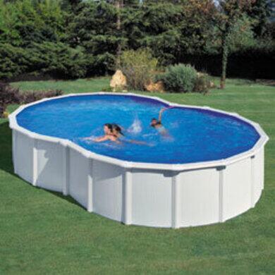 kit piscine hors sol varadero en forme de 8 acier 5 x 3 40 x h 1 20m