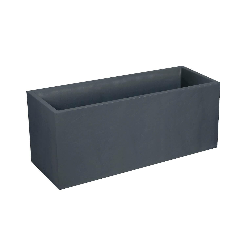 jardiniere rectangulaire volcania 100 cm gris anthracite