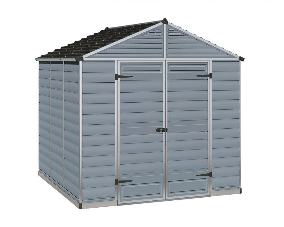 abri de jardin en resine 5 4 m skylight gris
