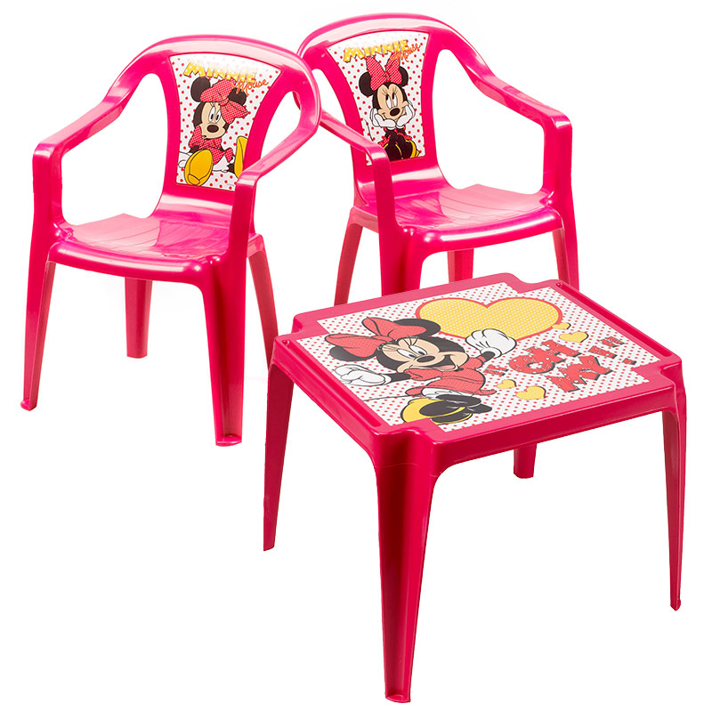 salon minnie 1 table et 2 chaises