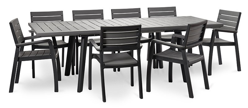 salon de jardin table resine 160 240 cm harmony