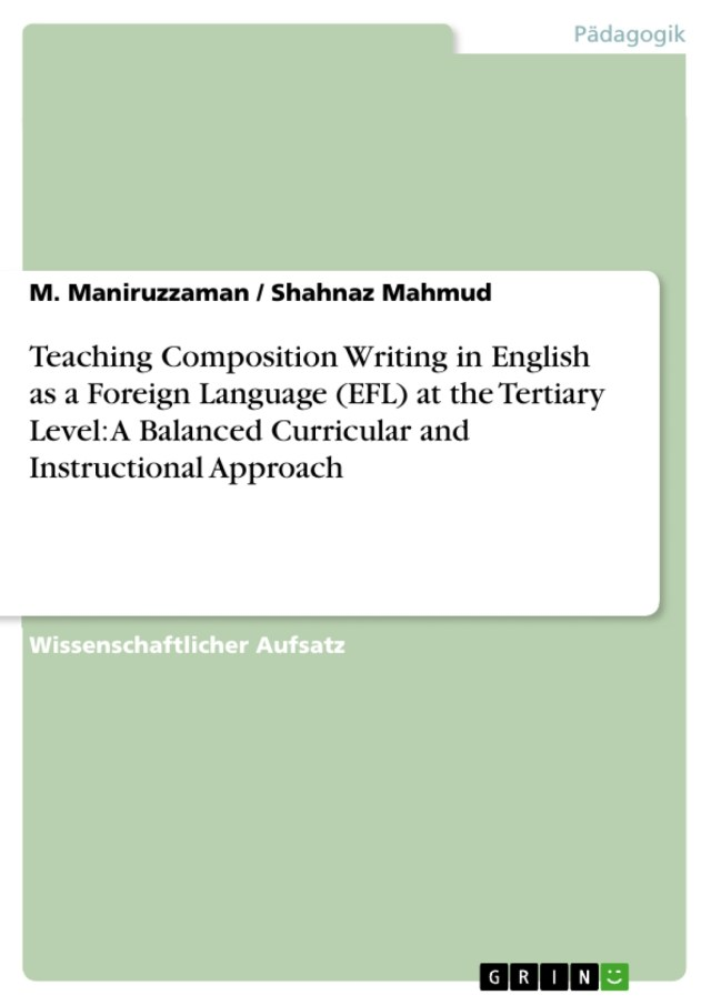 Teaching Composition Writing in English as a Foreign Language - GRIN