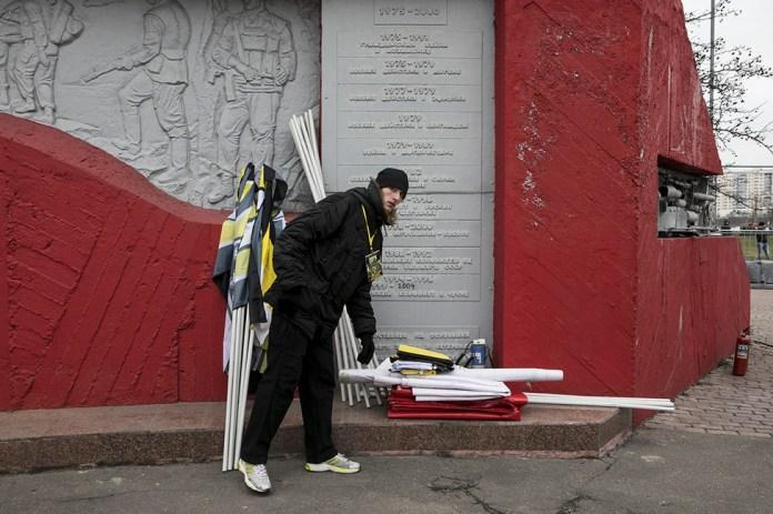 После акции националистов вЛюблине. Фото: Открытая Россия