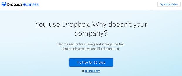 dropbox upsell 2