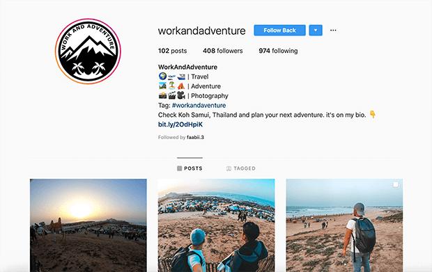 example affiliate business Instagram