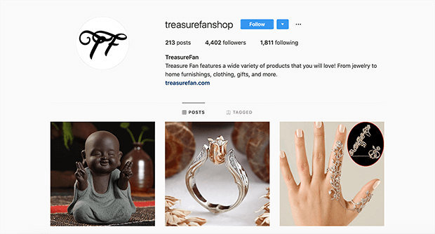 dropshipping business instagram example