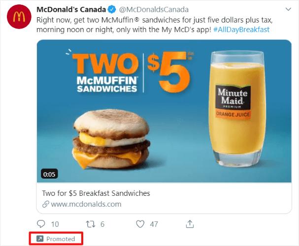 sponsorship on twitter