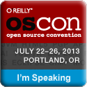 I'm Speaking at OSCON 2013 (size 125 X 125)