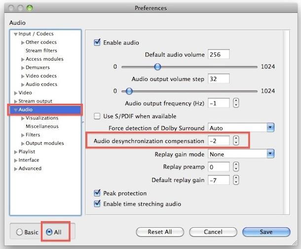 исправить синхронизацию звука Mac