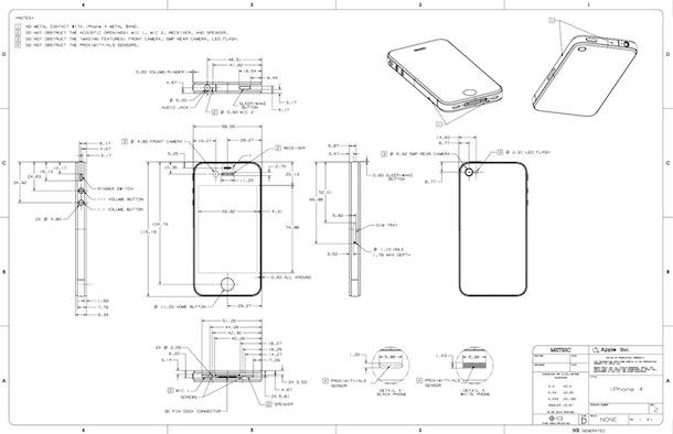iphone 4 рисунок