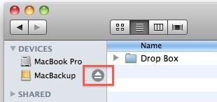 безопасно извлечь диск Mac