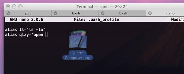 перетащить файл в терминал для пути