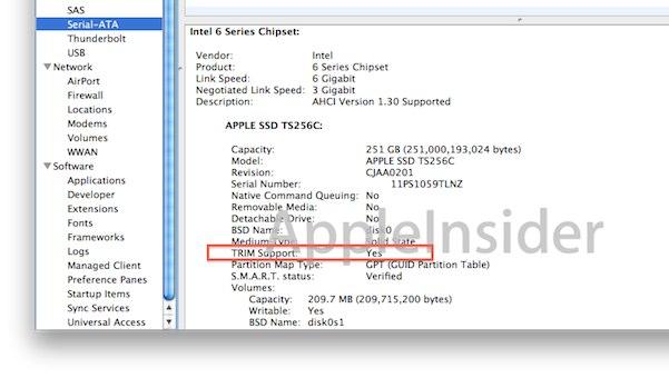 Mac-OS-X-10-6-SSD-обрезки поддержки