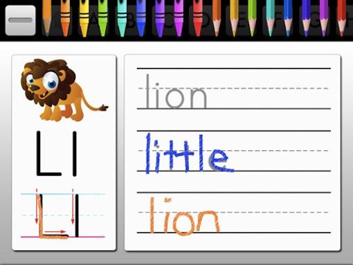 Алфавитное развлечение на iPad: Лев!