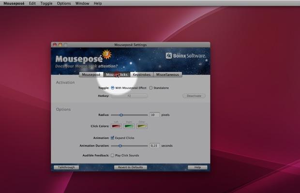 Mousepose делает мышь более заметной для презентаций