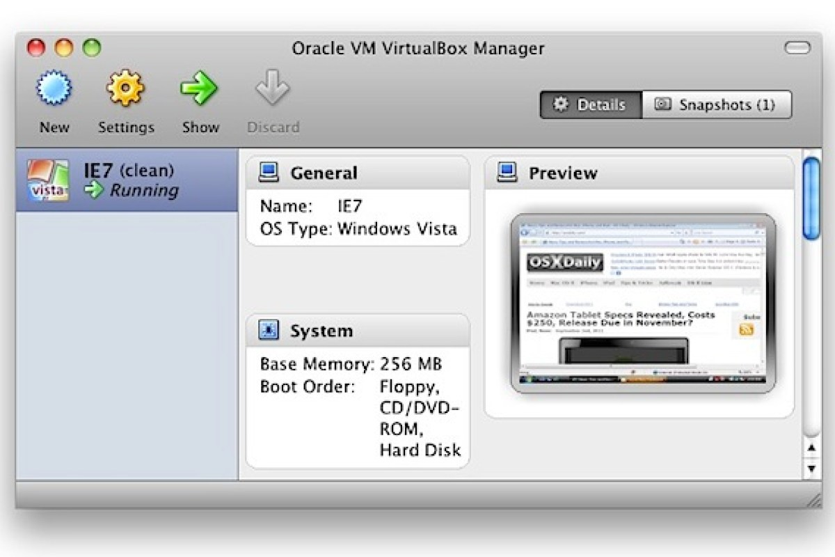 Internet Explorer for Mac : Virtual Machine – Pantheon