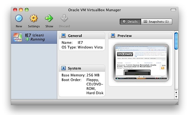 Internet Explorer VM for Mac