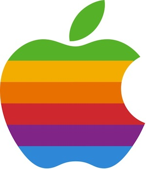 Радужный логотип Apple