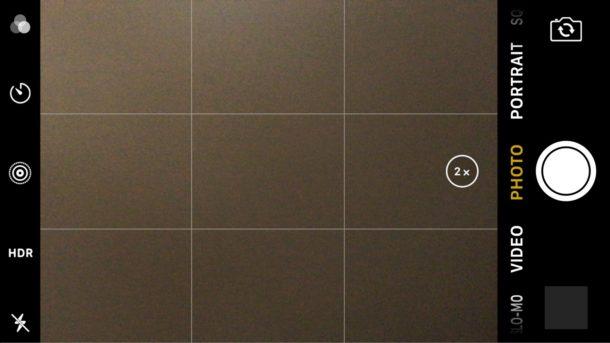 Сетка камеры iPhone включена