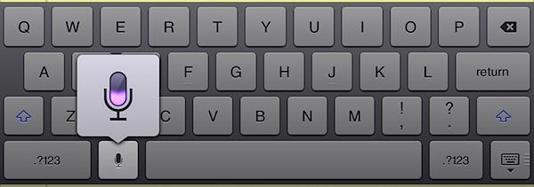 iPad диктовка