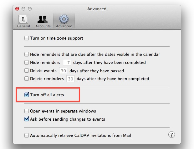 Turn Off Ical Alerts On The Mac