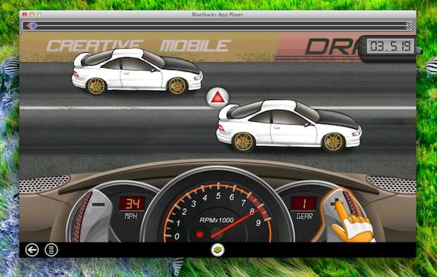 Игра Drag Racing для Android в Mac OS X