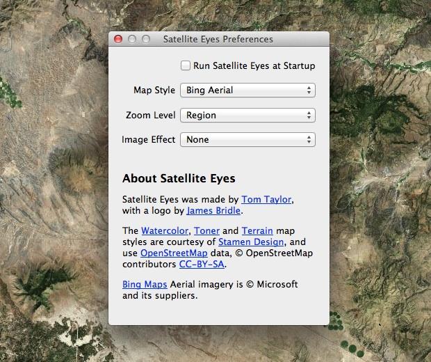 Настройки Satellite Eyes