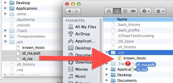 Migrate SSH Keys through Finder