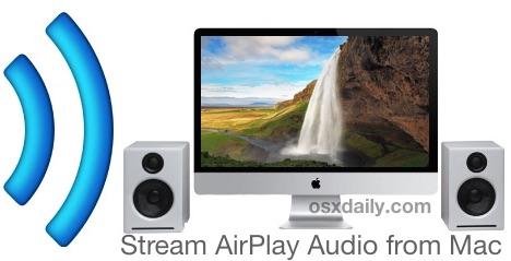 Потоковое аудио через AirPlay с Mac